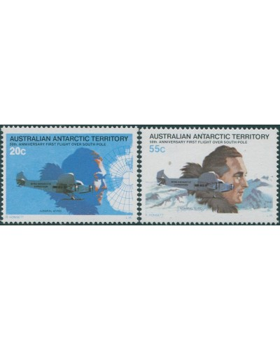 AAT 1979 SG35-36 Byrd First Flight set MNH