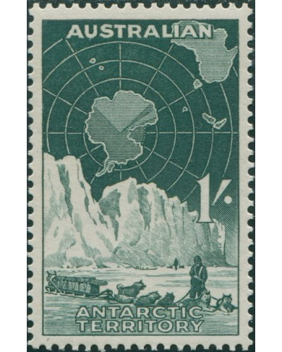 AAT 1959 Sc#L3,SG4 1/- Dog-team and Iceberg MNH