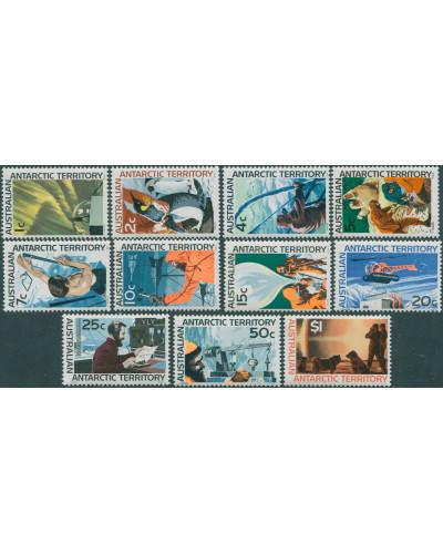 AAT 1966 Sc#L8-L18,SG8-18 Antarctic Scenery set MH