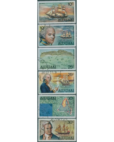 Aitutaki 1974 SG123-128 William Bligh Discovery Airmail set FU