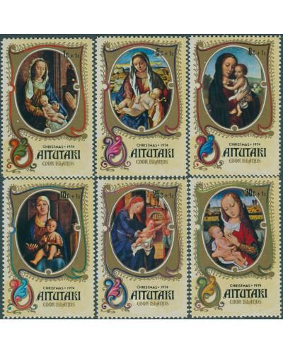 Aitutaki 1974 SG142-147 Children Xmas Fund set MLH