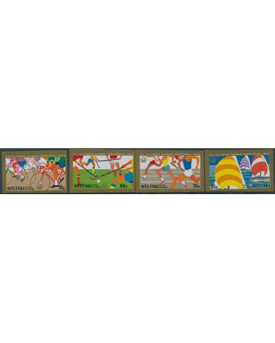 Aitutaki 1976 SG190-193 Olympic Games set imperf MNH