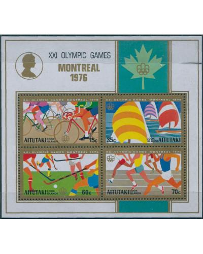 Aitutaki 1976 SG194 Olympics MS MNH