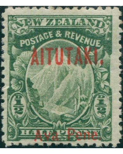 Aitutaki 1903 SG1 ½d green Mount Cook MH