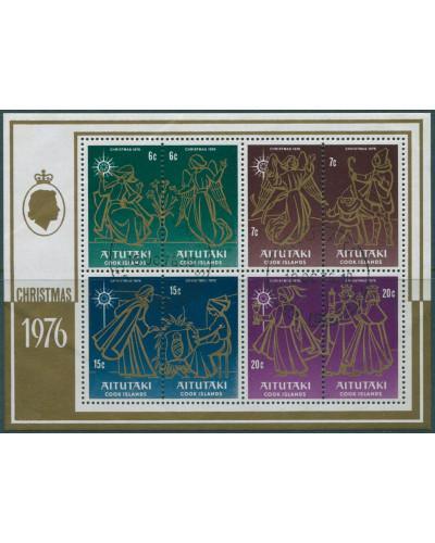Aitutaki 1976 SG208 Christmas MS FU