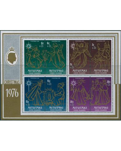 Aitutaki 1976 SG217 Children Christmas Fund MS MNH