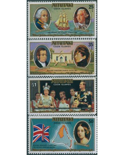 Aitutaki 1977 SG225-228 Silver Jubilee set MNH