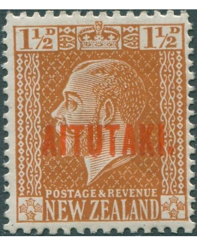 Aitutaki 1917 SG22 1½d orange-brown KGV MLH