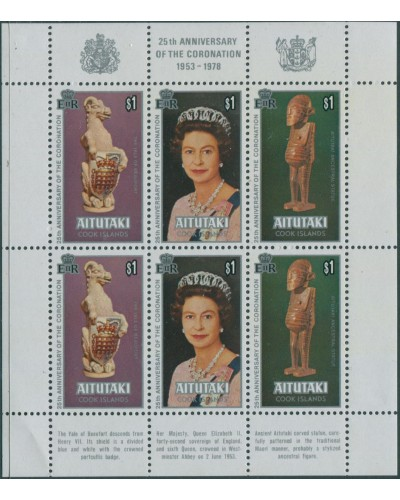 Aitutaki 1978 SG257-259 Coronation sheet MNH