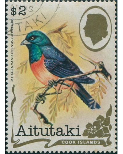Aitutaki 1981 SG350 $2 Bird FU