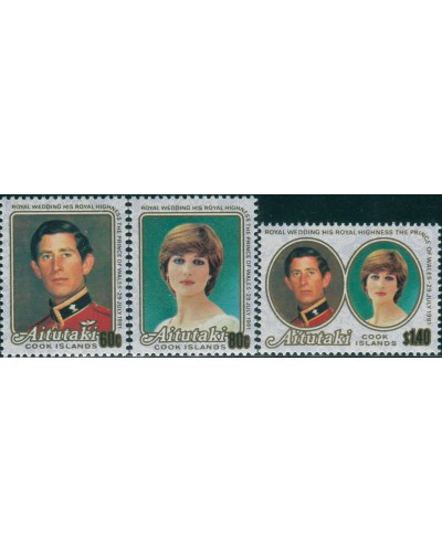 Aitutaki 1981 SG391-393 Royal Wedding MNH