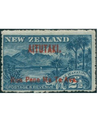 Aitutaki 1903 SG3 2½d deep blue Lake Wakatipu and Mount Ernslaw MH