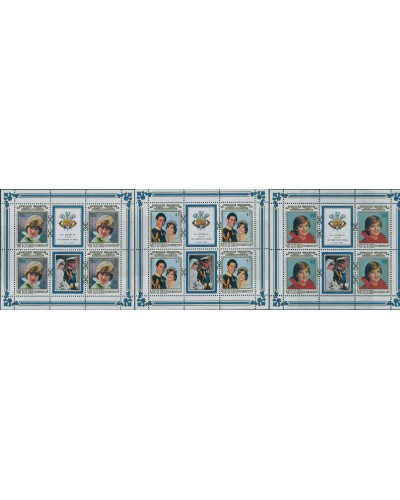 Aitutaki 1982 SG411-413 Diana Princess of Wales Birthday sheetlets MNH