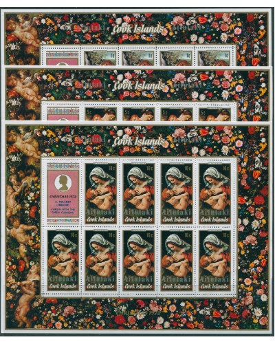 Aitutaki 1972 SG43-45 Christmas sheets set MNH