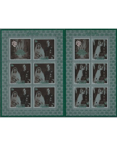 Aitutaki 1972 SG46-47 Silver Wedding sheets MNH