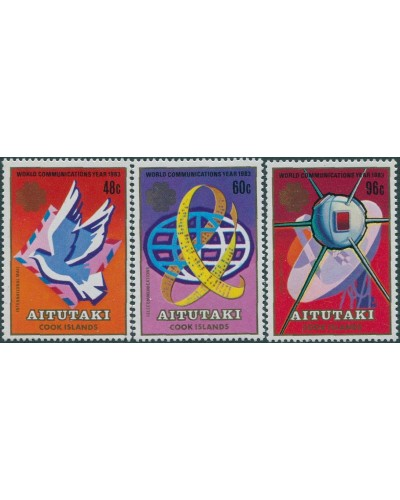 Aitutaki 1983 Communications set SG466-468 MNH