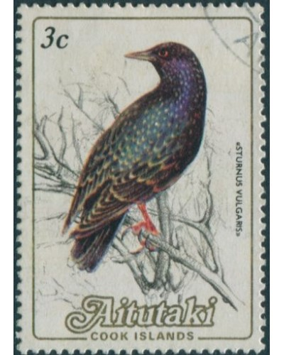 Aitutaki 1984 SG476 3c Common Starling FU