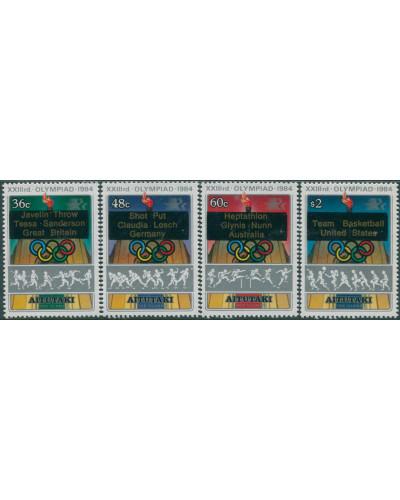 Aitutaki 1984 SG495-498 Olympic Games set MNH