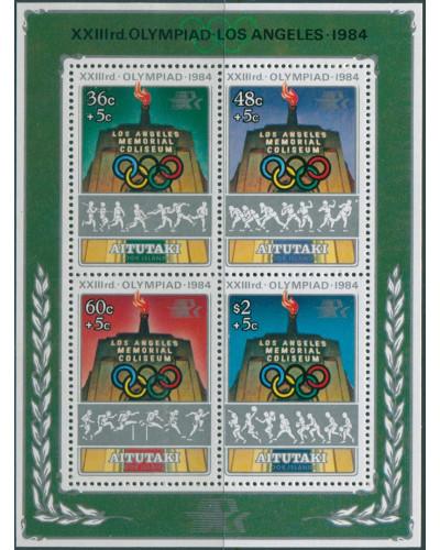 Aitutaki 1984 SG499 Olympic Games MS MNH