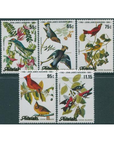 Aitutaki 1985 SG518-522 Audubon Birds set MNH