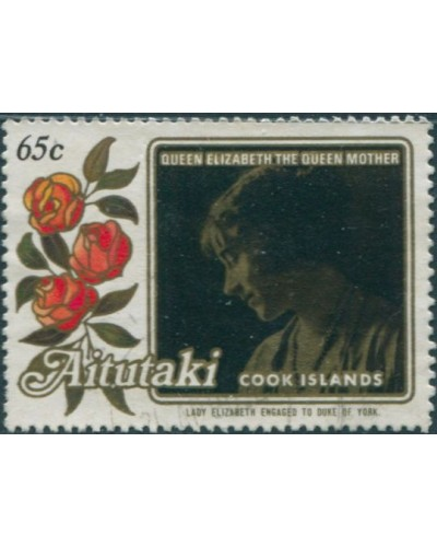 Aitutaki 1985 SG524 65c Lady Elizabeth Engagement Photo FU