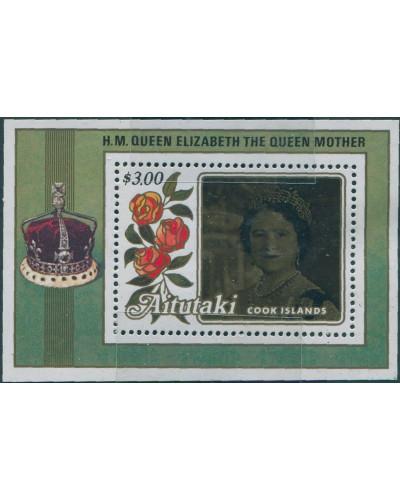 Aitutaki 1985 SG527 Queen Mother MS MNH