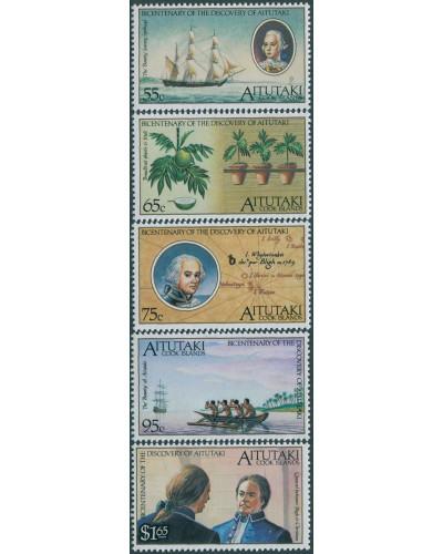 Aitutaki 1989 SG596-600 Bounty set MNH