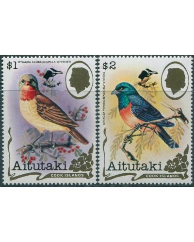 Aitutaki 1990 SG620-621 Birdpex ovpts MNH