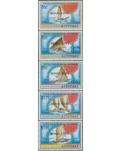 Aitutaki 1992 SG637-641 Royal Visit set MNH