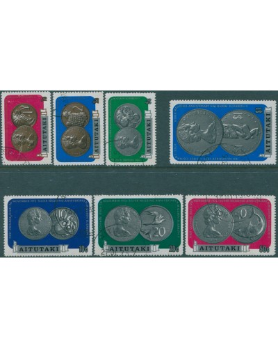 Aitutaki 1973 SG71-77 Silver Wedding Coinage set FU