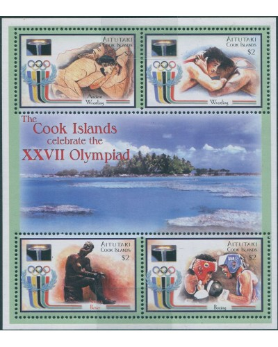 Aitutaki 2000 SG712a Olympic Games Sydney sheetlet MNH