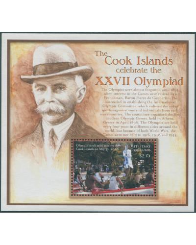 Aitutaki 2000 SG716 Sydney Olympics MS MNH