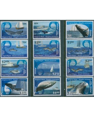 Aitutaki 2012 SG778-801 Whales Dolphins Ships set MNH