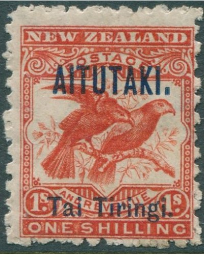 Aitutaki 1903 SG7b 1s orange-red Huia MLH