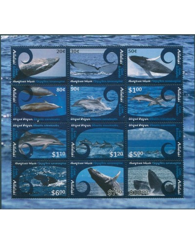 Aitutaki 2012 SG802 Whales Dolphins MS MNH