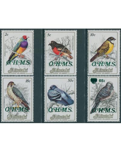 Aitutaki OHMS 1985 SGO17-O22 Birds (6) MNH