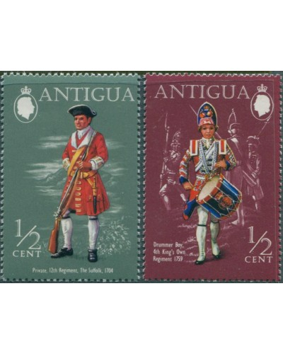 Antigua 1970 SG290-303 Military Uniforms MNH