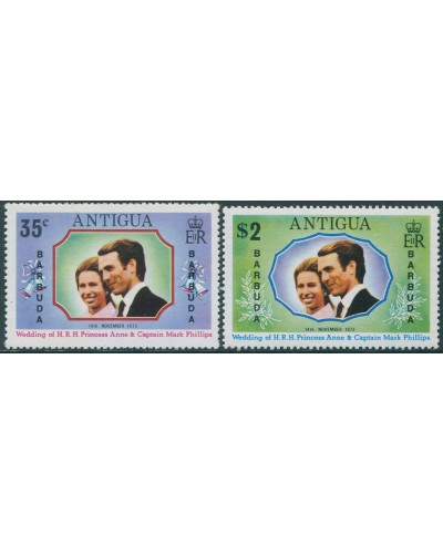 Antigua 1973 SG370-371 Princess Anne Wedding MNH