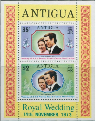 Antigua 1973 SG372 Princess Anne Wedding MS MNH