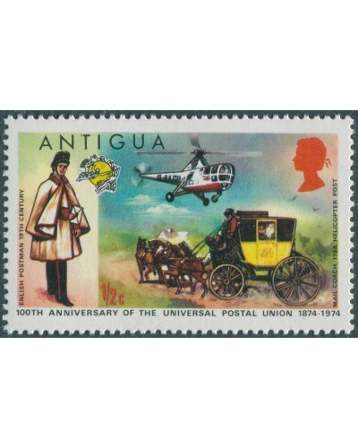 Antigua 1974 SG386 ½c UPU QEII MNH