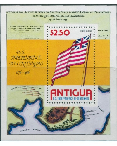 Antigua 1976 SG494 American Revolution MS MNH