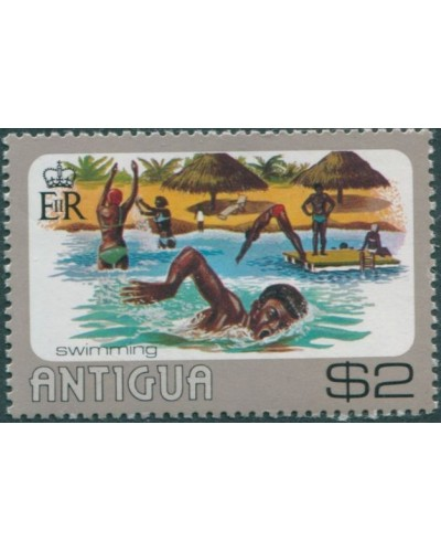 Antigua 1976 SG508 $2 Swimming MNH