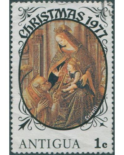 Antigua 1977 SG555 1c Christmas FU