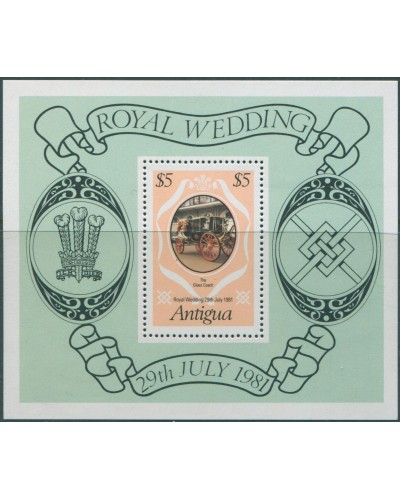 Antigua 1979 SG705 Royal Wedding MS MNH