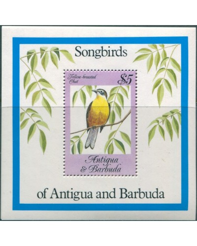 Antigua 1984 SG874 Songbirds MS MNH