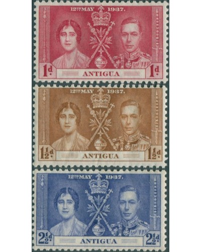 Antigua 1937 SG95-97 Coronation set MLH