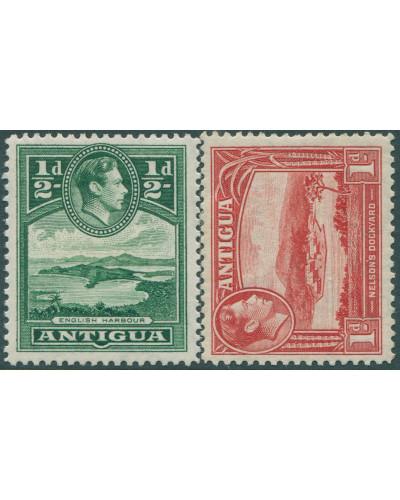 Antigua 1938 SG98-99 Scenes KGVI MLH