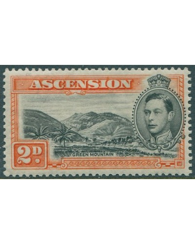 Ascension 1938 SG41a 2d black and orange KGVI Green Mountain MLH
