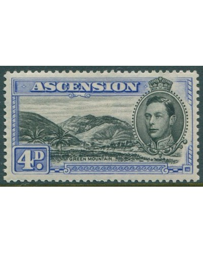 Ascension 1938 SG42d 4d black and blue KGVI Green Mountain MLH