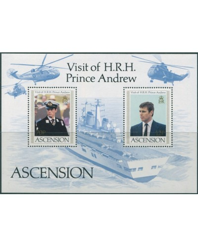 Ascension 1984 SG358 Prince Andrew MS MNH